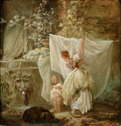 Laundress and Child | Hubert Robert | Oil Painting