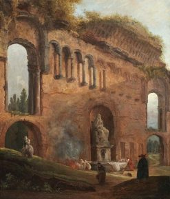 Roman Ruins with Laundresses | Hubert Robert | Oil Painting