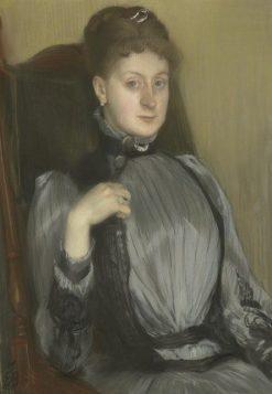 Portrait of a Woman   Jacques Emile Blanche   Oil Painting