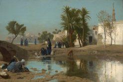 Fellah Women Drawing Water | Jean LEon GErôme | Oil Painting