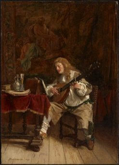 The Musician | Jean Louis Ernest Meissonier | Oil Painting