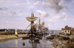 Frigates | Johan Barthold Jongkind | Oil Painting