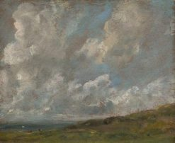 Study of Clouds over a Landscape | John Constable | Oil Painting