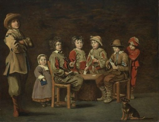 The Young Card Players   Louis Le Nain   Oil Painting