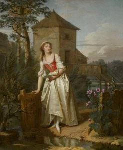 Young Woman in an English Garden | Martin Drölling | Oil Painting