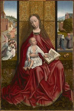 Virgin and Child Enthroned | Master of the Embroidered Foliage | Oil Painting