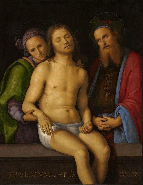 Dead Christ with Joseph of Arimathea and Nicodemus   Perugino   Oil Painting