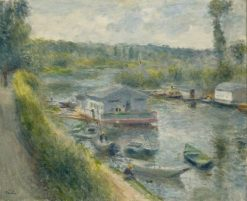 Wash-House Boat at Bas-Meudon | Pierre Auguste Renoir | Oil Painting