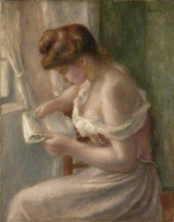 Woman Reading | Pierre Auguste Renoir | Oil Painting