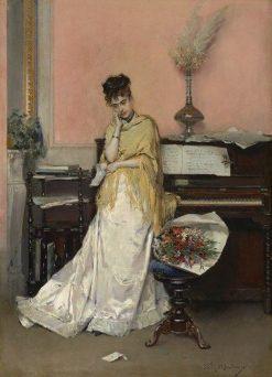 Reverie - The Letter | Raimundo de Madrazo y Garreta | Oil Painting