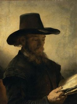 Man Reading | Rembrandt van Rijn | Oil Painting