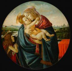 Virgin and Child with Saint John the Baptist | Sandro Botticelli | Oil Painting