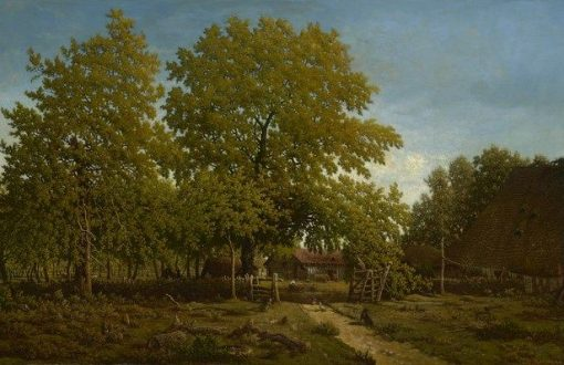 Farm in the Landes | ThEodore Rousseau | Oil Painting