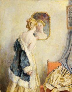 Girl Looking in a Mirror | Walter MacEwen | Oil Painting