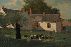 Farmyard Scene | Winslow Homer | Oil Painting