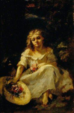 Girl with Flowers | Narcisse Dìaz de la Peña | Oil Painting