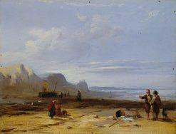A Coastal Scene | Richard Parkes Bonington | Oil Painting