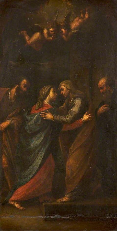 The Salutation (The Visitation)   Francesco Cairo   Oil Painting