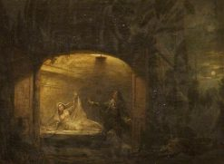 David Garrick as Romeo at Juliet's Tomb (from Shakespeare's 'Romeo and Juliet') | Benjamin Wilson | Oil Painting