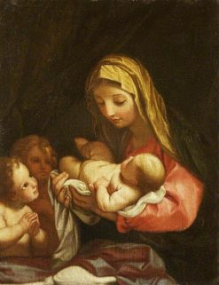 The Madonna and Child with Two Adoring Putti | Carlo Maratta | Oil Painting