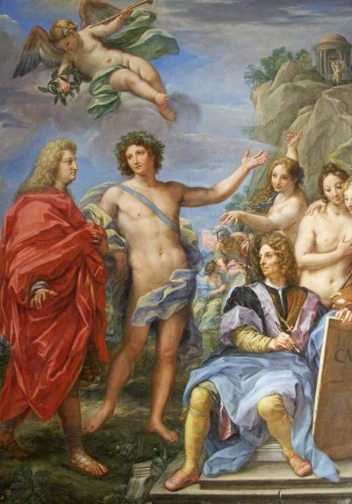 Marchese Niccolò Maria Pallavicini Guided to the Temple of Virtue by Apollo