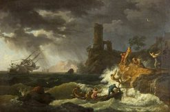 Midday: Storm and Shipwreck | Claude Joseph Vernet | Oil Painting