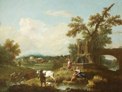 A Pastoral Landscape | Francesco Zuccarelli | Oil Painting