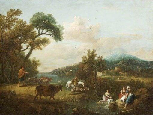 A Pastoral Landscape   Francesco Zuccarelli   Oil Painting