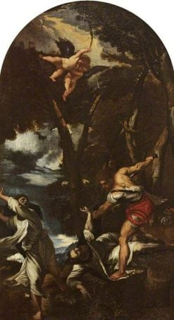 The Assassination of Saint Peter the Martyr (after Titian)   Pier Francesco Mola   Oil Painting