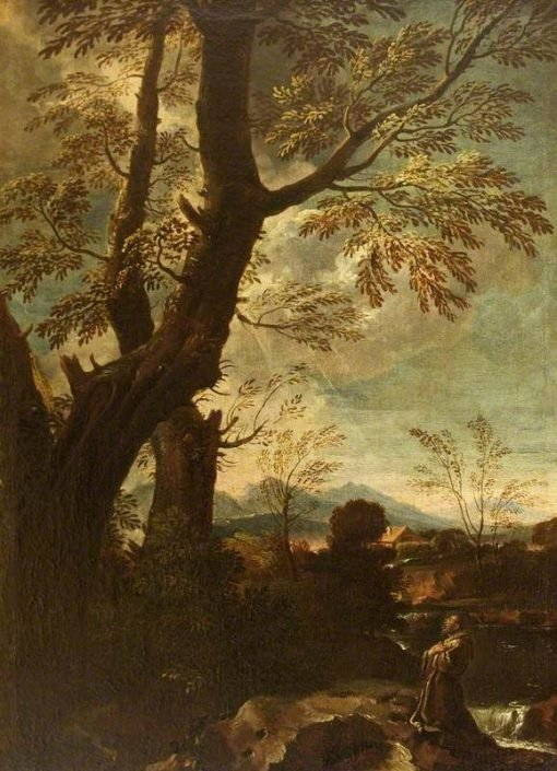 Landscape with the Stigmatisation and Ecstasy of Saint Francis | Pier Francesco Mola | Oil Painting