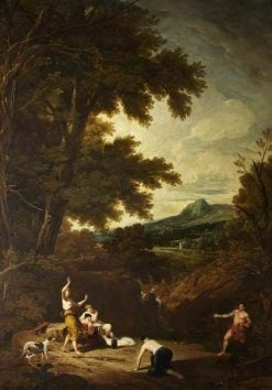 Classical Landscape with Diana and Actaeon | William Owen | Oil Painting