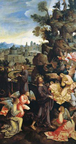 The Temptation of Christ   Jacob Cornelisz. van Oostsanen   Oil Painting