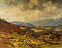 Autumn Day from Brithdir | Herbert Hughes Stanton | Oil Painting