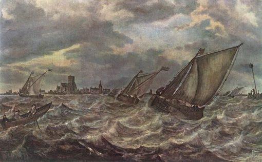 Rough Sea | Abraham van Beyeren | Oil Painting