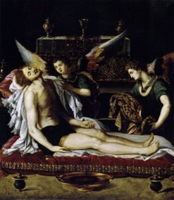 The Dead Christ with Two Angels | Alessandro Allori | Oil Painting