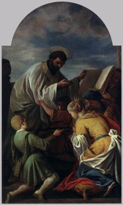 Saint Francis Xavier Baptising Queen Neachile of India | Andrea Pozzo | Oil Painting