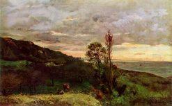 Landscape near Villerville   Charles Francois Daubigny   Oil Painting