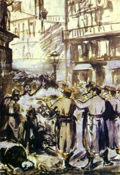 The Barricade (Civil War) | Edouard Manet | Oil Painting