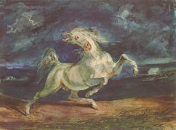Horse Frightened by a Storm | Eugene Delacroix | Oil Painting