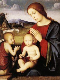 Madonna and Child with Saint John the Baptist | Francesco Francia | Oil Painting