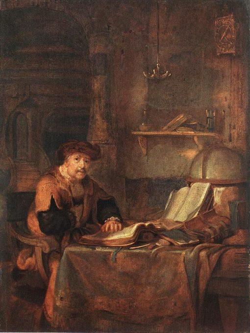 A Scholar with His Books   Gerbrand van den Eeckhout   Oil Painting