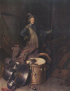 Officer of the Marksman Society in Leiden | Gerrit Dou | Oil Painting