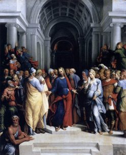 Christ and the Adulteress   Il Garofalo   Oil Painting