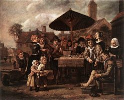 Market Scene with a Quack at his Stall | Jan Victors | Oil Painting