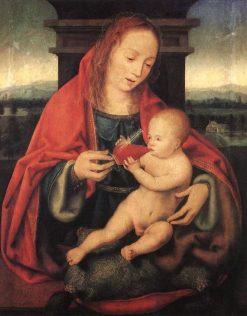 Virgin and Child   Joos van Cleve   Oil Painting