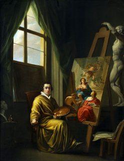 Self-Portrait in His Studio   Joseph Abel   Oil Painting