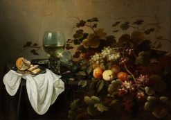 Still Life with Fruit and Roemer   Pieter Claesz   Oil Painting