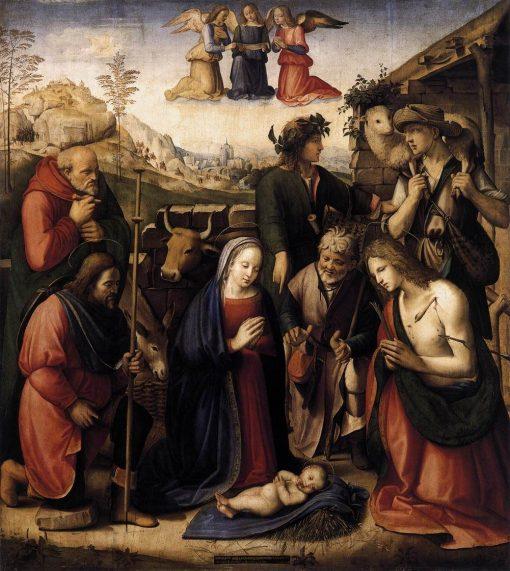 Adoration of the Shepherds   Ridolfo Ghirlandaio   Oil Painting