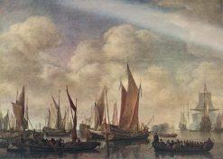 Visit of Frederick Hendriks II to Dordrecht in 1646 | Simon de Vlieger | Oil Painting