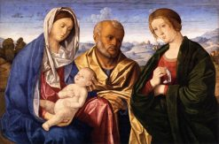 The Holy Family with a Female Saint | Vincenzo Catena | Oil Painting